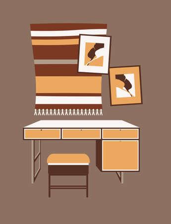 cute interior of a cozy room 向量圖像