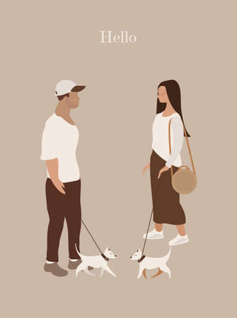 Couple in love card vertical Illustration