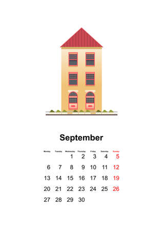 vertical wall calendar page for month 2021 向量圖像