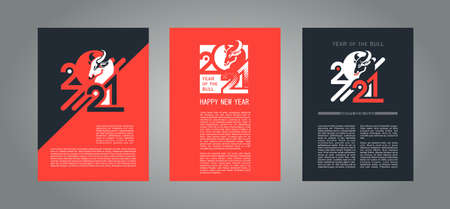 set of new year posters
