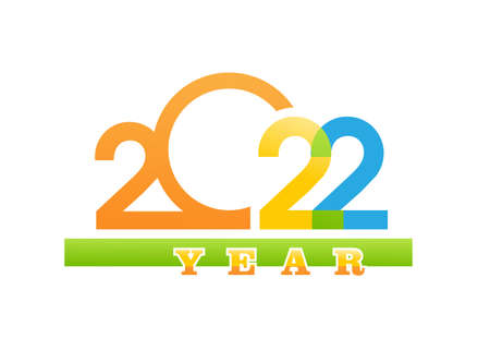 2022 digit of the year vector