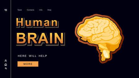 concept vector banner human brain