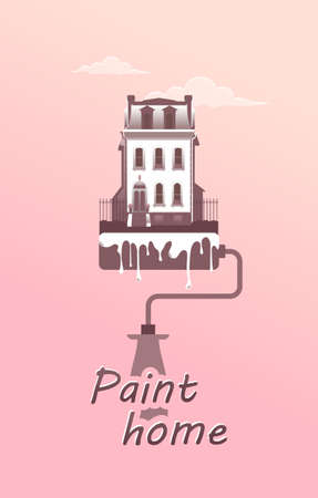paint the facade of the house concept