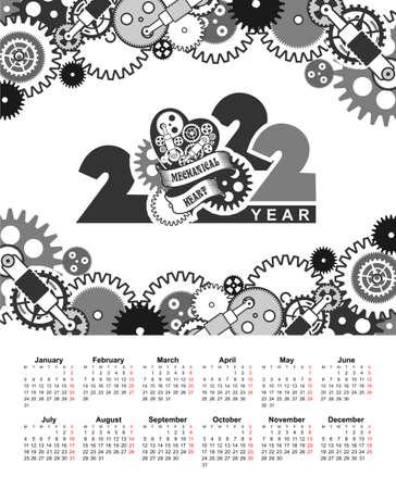 2022 clendar mesh mechanical parts gears