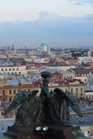 st. petersburg from above at st. isaac cathedral