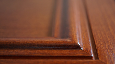 detail of solid wood furniture without people background