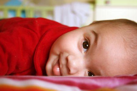 Happy Babe face Stock Photo - 3411762