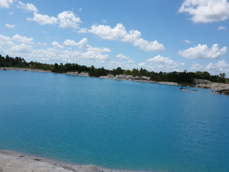 kaolin: Kaolin Lake - Belitung Indonesia Stock Photo