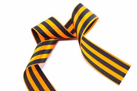 St. George ribbon isolated on white photo