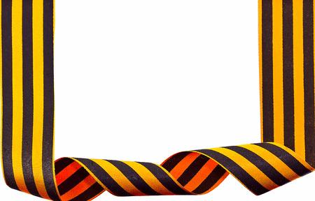 St. George ribbon isolated on white Stock Photo - 27428504