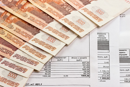 utility payments: receipt for payment of utilities and Russian money