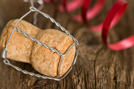 champagne cork: Champagne cork new year. Macro image. Stock Photo