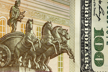 rubles: background of US dollars and Russian rubles