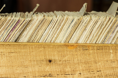 file box: Card file box in the archive. Can be used as background