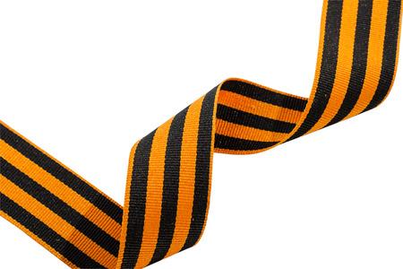 heroism: St. George ribbons on white background. Symbol of heroism