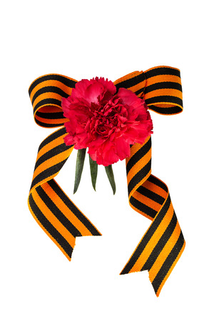 heroism: Carnation and bow of St. George Ribbon. Symbol of heroism