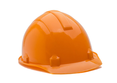 Construction helmet on a white background photo