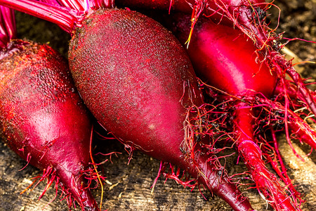 beets: Beets on the wooden table. closeup Stock Photo
