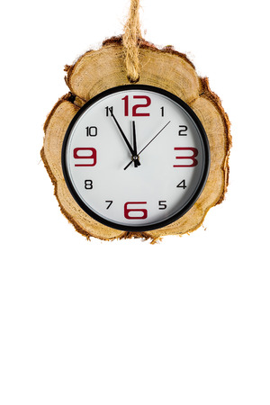 xmas background: Xmas backgrounds with watches on white background.  Copy space