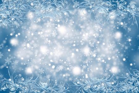 nowy rok: Boże Narodzenie w tle z mroźny wzór. Boże Narodzenie i Nowy Rok