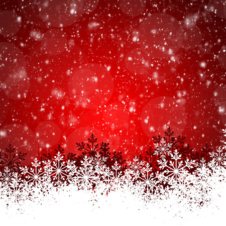 bright space: Abstract beauty Christmas and New Year background. Red Christmas Background With Snowflakes Stock Photo