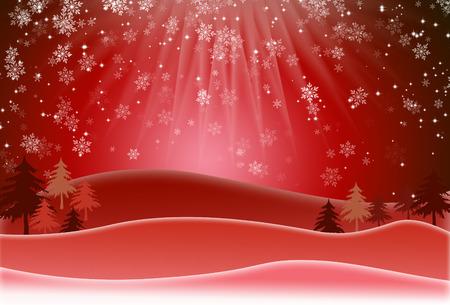 raster illustration: Christmas background with snow flakes . Raster Illustration Stock Photo