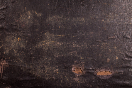 Close-up of an old canvas suitcase, vintage look 写真素材