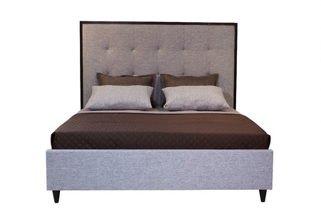 bedder: double bed isolated under the white background