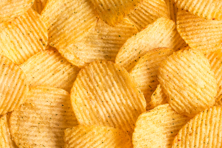 salt flat: Potato chips texture background. Potatoes pattern.. Chips texture studio photo