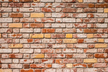 solid background: old red brick wall texture background.