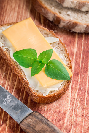 Butter and bread for breakfast Stock Photo