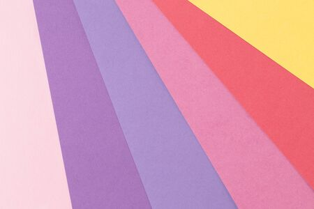 Material design style of color paper. Template for background and web. Pastel colors Reklamní fotografie