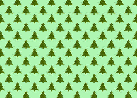 Seamless pattern with green christmas trees on a green background. Minimal composition pattern background of Christmas trees. New year and Christmas concept.