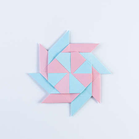 Origami Star. Made with square sheets of paper.
