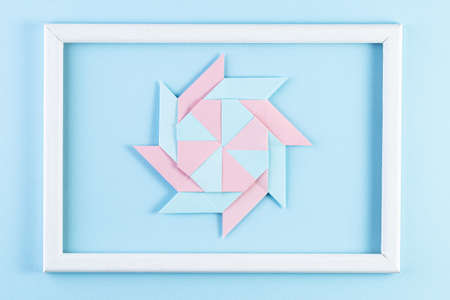 Origami Star. Made with square sheets of paper. Colorful paper crafts