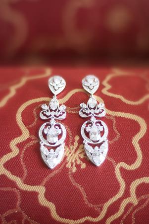 beautiful earrings Reklamní fotografie