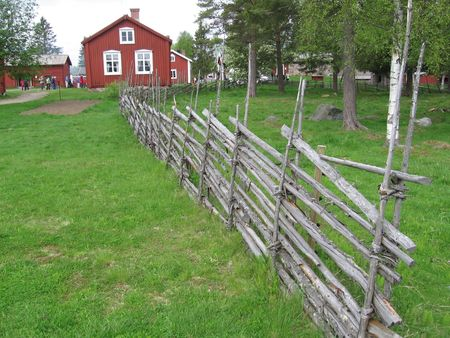 rd: swedish fence called g�rdsg�rd Stock Photo