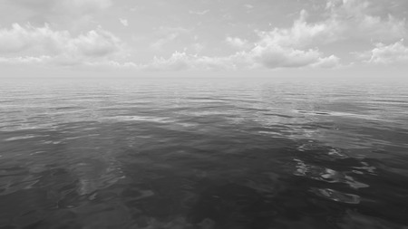 mirror on the water: Black and white cloudscape background. Сumulus over mirror water surface