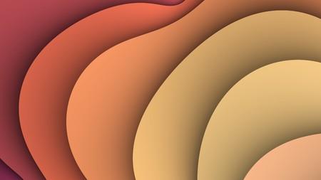 autumn color: Simple fractal waves background in autumn color range