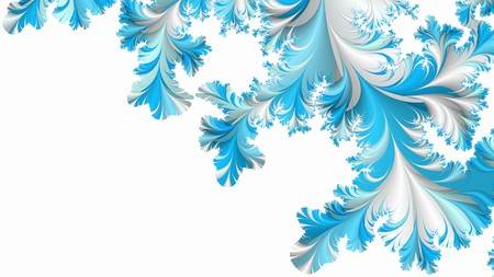 Abstract winter fractal achtergrond Stockfoto
