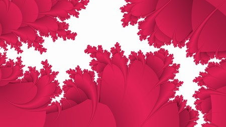 incarnadine: Red pattern on white abstract fractal background