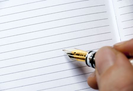 writing or signing on a blank agenda Stock Photo - 6775324