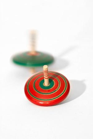 Trottola rosso e verde