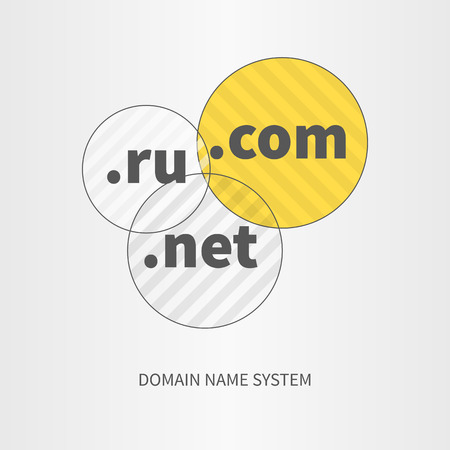 web development: Domain name services web and icon, concept elements design for business, marketing, web, mobile app. Creative idea  development vector illustration. Text bellow.