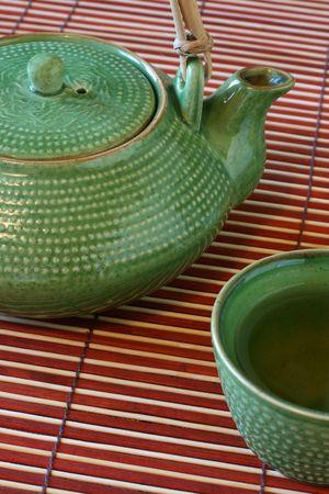 wtih green tea Stock Photo