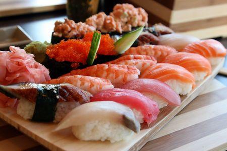 The Japanese kitchen. Sushi Stock Photo