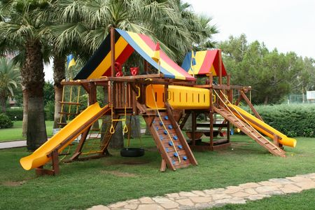 Childrens playground for games