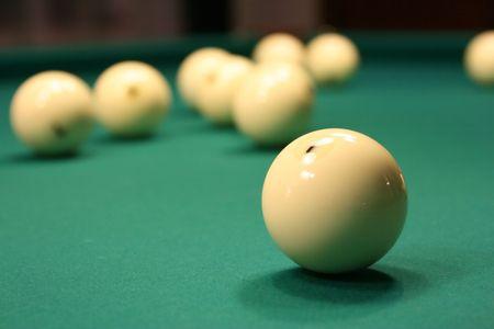 ivories: white billiard balls Stock Photo