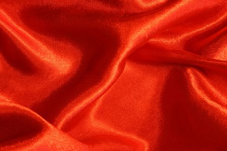 Red silk can be used as a background Stock Photo - 2740485