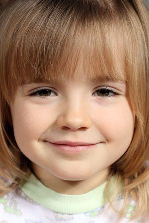 Portrait of the beautiful little girl Stock Photo
